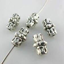 Tibetan Silver Tube Spacer Beads 6x10mm Fashion Jewelry Findings Beading
