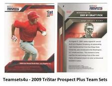 2009 Tristar Prospects Plus Baseball Set ** Pick your Team **