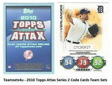 2010 Topps Series 2 ATTAX Code Cards Baseball Set ** Pick Your Team **
