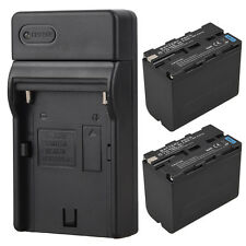2x 7800mah NP-F960 Replacement Battery + Charger For Sony NP-F960 NP-F970 Camera