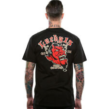 Men's Lucky 13 Grease Gas And GloryShort Sleeve T-Shirt Black Devil