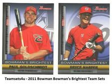 2011 Bowman Bowman's Brightest Baseball Set ** Pick Your Team **
