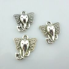 Tibetan Silver Elephant Head Charms Pendants DIY Jewelry Making 15x16mm