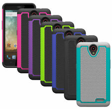 For ZTE Prestige N9132 Case Dual Layer Impact Resistant Hybrid Armor Phone Cover