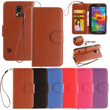 Luxury Leather Wallet Card Stand W/ Strap Case Cover For Samsung Galaxy Series