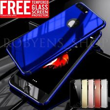 Original For Apple iPhone 6s 7 Plus Shockprooof Hard Mirror Case +Tempered Glass