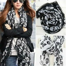 Fashion Women Big Skull Head Skeleton Soft Long Shawl Scarf Wrap Stole Neck Warm