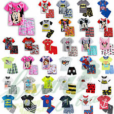 Summer Kids Baby Boys Girls Short Sleeve T-shirt Shorts Pants Casual Outfits Set