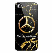 Mercedes Logo GOLD MARBLE Print On Hard Plastic Case For iPhone 5s 6 6s 7 (Pus)