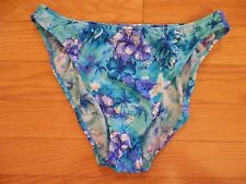 NEW WOMENS SEXY BIKINI TOP OR BIKINI BOTTOMS BLUE TROPICAL FLORAL SIZES 10 & 14