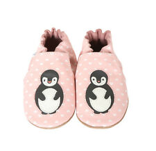 ROBeeZ Ultra-Soft Crib Shoes Baby Infant Girls Piper Penguin 6-12M, 12-18M NIB