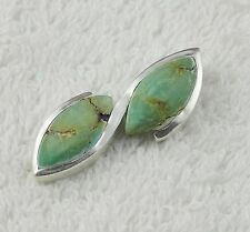 Natural Turquoise 9x19mm Marquoise Cabochon Gemstone 925 Sterling Silver