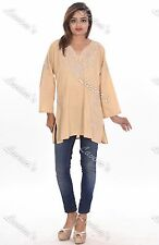 Women Casual Embroidered Sexy Tunic Designer Top Ethnic Blouse Shirt Hippie Dres