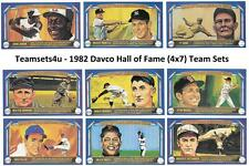 1982 Davco Hall of Fame (4x7) Baseball Set ** Pick Your Team **