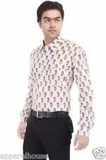 Indian Cotton Block Printed Designer Shirt Floral Slim Fit Sexy Casual Shirt