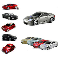 New Cordless 2.4Ghz Wireless Optical Car Shape Mouse Laptop PC Mice USB Receiver