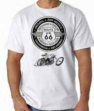ROUTE 66 Biker Motorcycle T Shirt 100% Cotton FREE UK P&P Rock n Roll Cars USA