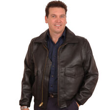 G1 Navy DEERSKIN Leather Bomber Jacket-TALL SIZES