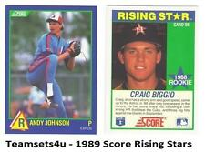 1989 Score Rising Stars Baseball Set ** Pick Your Team **