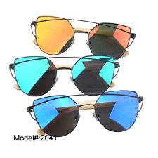 2041 Metal hand made UV400 optical frame bamboo temple sunglasses