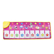 BABY KID EDUCATIONAL ANIMAL TOUCH PLAY PIANO KEYBOARD MAT MUSICAL CARPET ORNATE