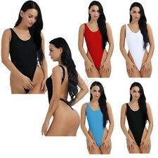 New Sexy High Cut Thong One-piece Swimsuit bathing suits Womens Backless Leotard