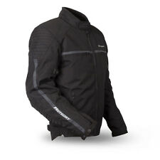 MotoDry Trophy 600D Black Waterproof Textile Motorcycle Jacket CE armour