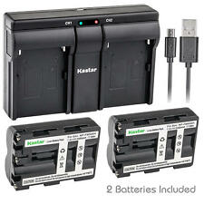 NP-FM500H Battery&Dual Slim Charger for Sony a200  a300  a350  a700, Alpha a58
