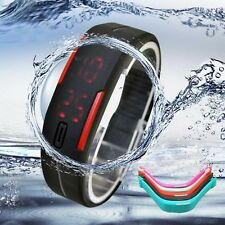 Ultra Thin Men Girl Sports Watch Silicone Digital LED Bracelet Wrist Watches