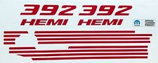 392 HEMI Engine Cover Decals Charger and Challenger SRT 392