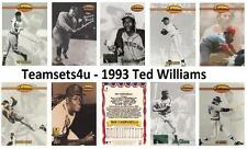 1993 Ted Williams Baseball Set ** Pick Your Team **