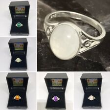 Sterling Silver Gemstone Ring - Gemstone and Size Choices