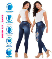 Cysm Colombianos Blue Push Up Ripped Jeans Butt Lifter Jeggings Levanta Cola New