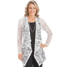 Women's Floral Lace Cascade Cardigan Jacket, by Collections Etc