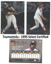 1995 Select Certified Baseball Set ** Pick Your Team **