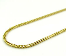"""10K Yellow Gold Diamond Cut Franco 1.1MM Chain Necklace –Size 16""""-22"""""""