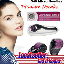 US LOCAL 0.5mm-2mm Needle Derma Skin Face Scars Acne Wrinkle Roller MicroNeedle
