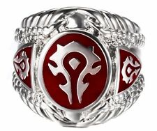 World of Warcraft Horde Logo Stainless Steel Ring - Various Sizes Available