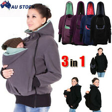 Womens Jacket Coat Kangaroo Hoodies Carrier Baby Pregnant for Maternity 3 in 1