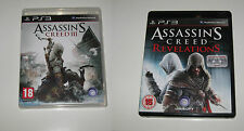 Assassins Creed III (3) PS3 Game & Assassins Creed Revelations Playstation 3