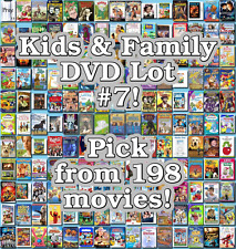 Kids & Family DVD Lot #7: 198 Movies to Pick From! Buy Multiple And Save!