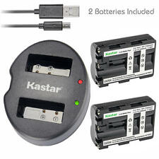 NP-FM500H Battery&Dual USB Charger for Sony DSLR-A350X A450 A450L A450Y A500