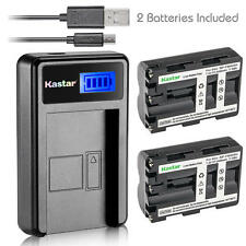 NP-FM500H Battery&Dual Slim Charger for Sony DSLR-A700P A700Z A850 A850B A850Q