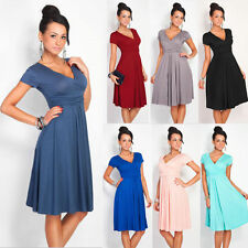 Womens Pleated Short Sleeveless Party Dress  Evening Cocktail Casual Dress E6026