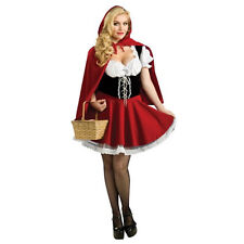 Ladies Little Red Riding Hood Costume Fancy Dress Woman Fairytale World Book Day