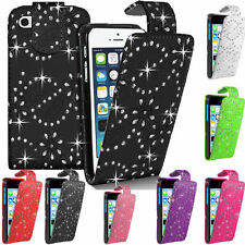 Diamond PU Leather Vertical FLIP Pouch Holster Case for BlackBerry 9360 Curve