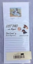 NEW Black Cocker Spaniel Springer Lined Paper List Pad With Magnet 8.5x3.5