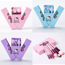NEW 2017 Fashion Girls Cute Hello Kitty Makeup Brushes Set  8 pcs With Mirror