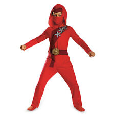 Boys Red Fire Ninja Classic Halloween Costume