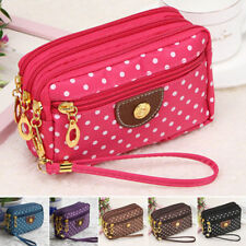 Cloth Zip Fashion Wallet Womens Clutch Card Holder Coin Purse Small Handbag vfd